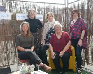 South Dunedin Community Network (from left) board member Jule Barth, administrator Grace Hannah,...