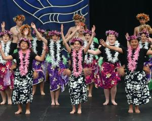 Tahuna Intermediate School's Cook Islands group spreads a wave of colour across the stage at...