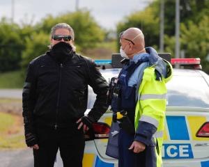 Brian Tamaki attends the recent lockdown protest at Auckland Domain. Photo: NZ Herald