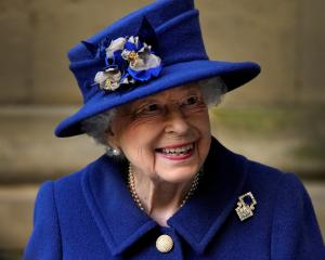 The Queen at a service at Westminster Abbey last year aged 94. Photo: Reuters