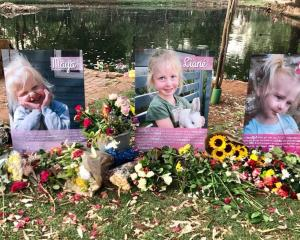 A tribute to the girls in Pretoria, South Africa by their wider family. Photo / Supplied Fawkes...