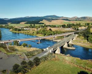 Visualisation of the new and existing Beaumont Bridges. PHOTO: NZ TRANSPORT AGENCY