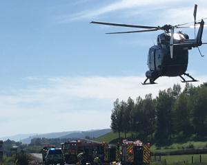 Two women were killed in the crash near Waihola. Photo: Hamish MacLean