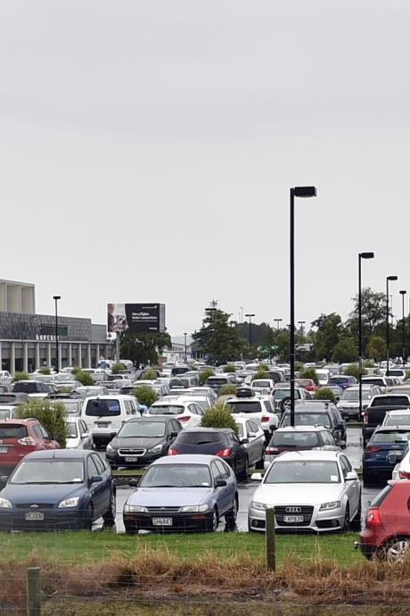Dunedin Airport has been packed since last Thursday with cars belonging to passengers travelling...
