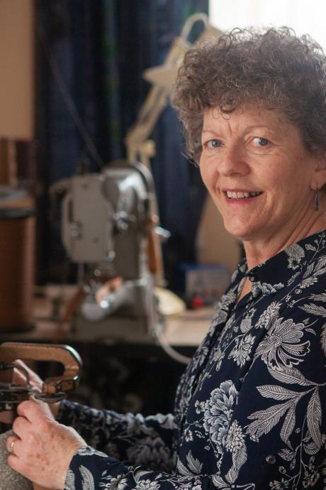 In 2018 Rachel Caswell bought sewing equipment and set up a studio making sheepskin slippers out...