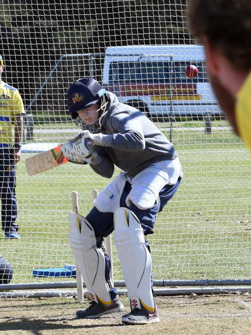 There was no hiding in the nets for ODT reporter Sean Nugent when he came up against Otago Volts...