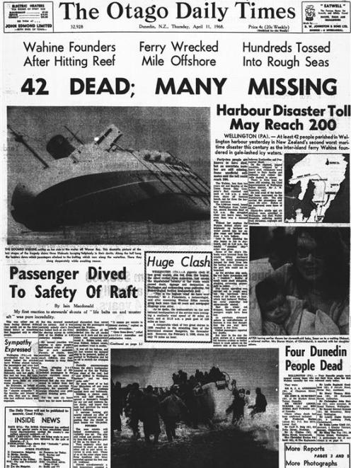 The front page of the ODT on April 11, 1968. IMAGE: OTAGO DAILY TIMES