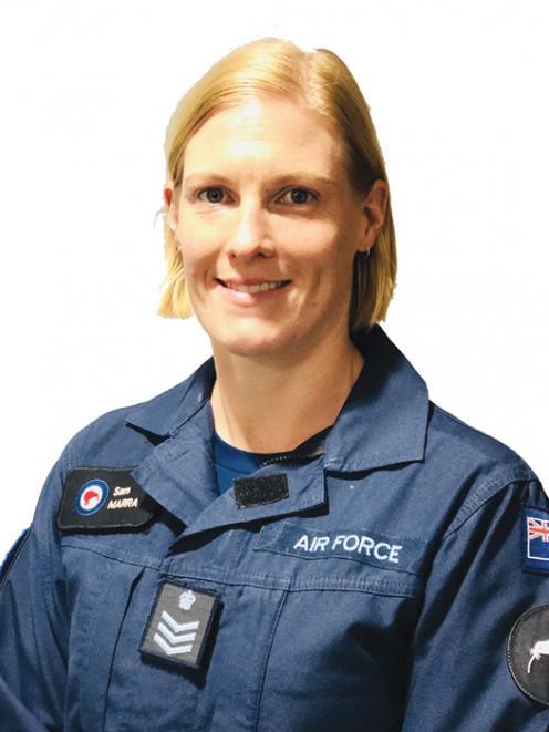 Flight Sergeant Samantha Marra, now of Auckland, ex Te Anau.  Photo Supplied.