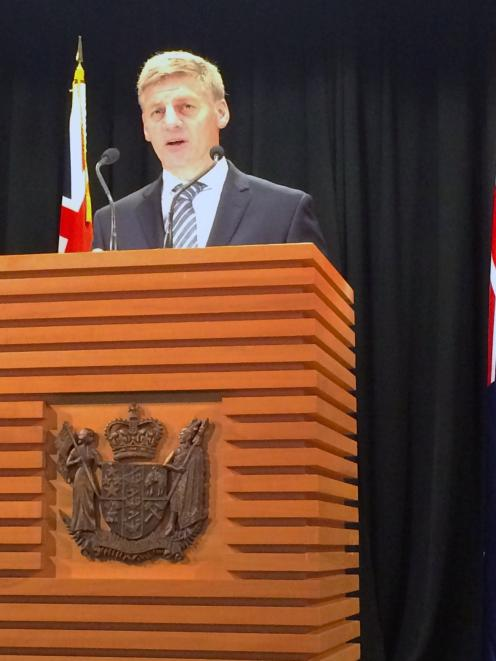 Bill English announcing the election date at Parliament. Photo: Reuters
