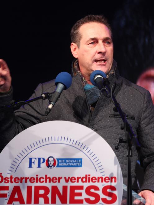 Austrian Freedom Party's Heinz-Christian Strache. Photo: Reuters