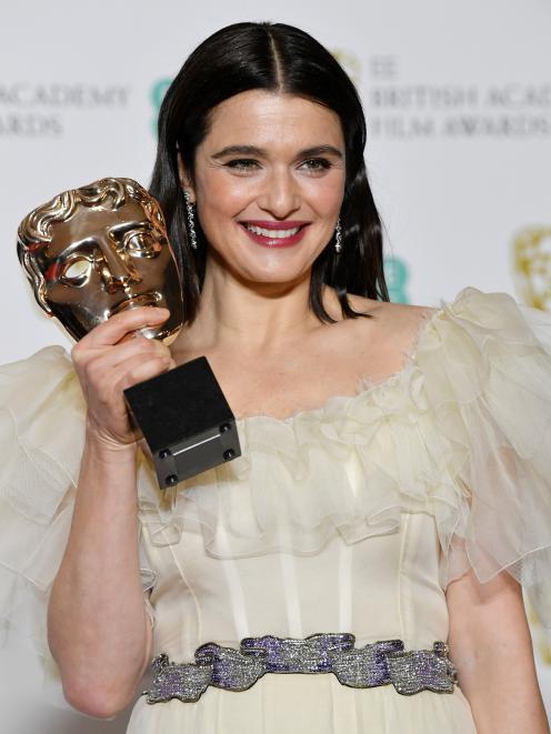 Rachel Weisz为The Favorite赢得了最佳女配角奖。照片:路透社