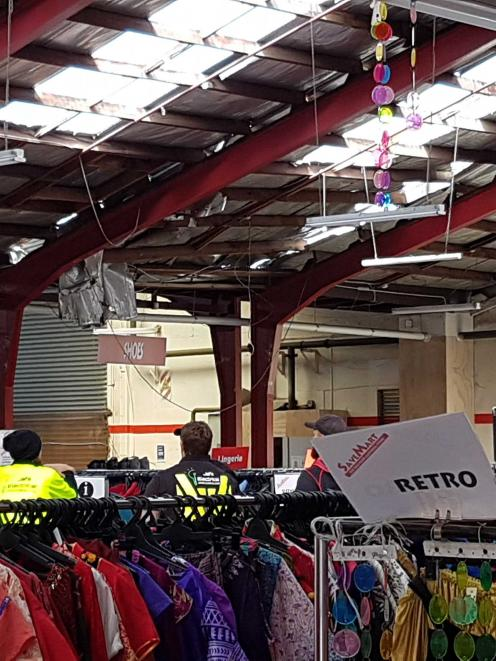 The roof at Savemart where two people were injured. Photo: Supplied via Star News
