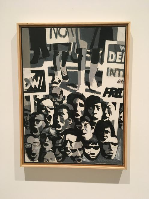 Reginald Gammon's 'Freedom Now' painting shows a crowd of marchers in the March on Washington for...