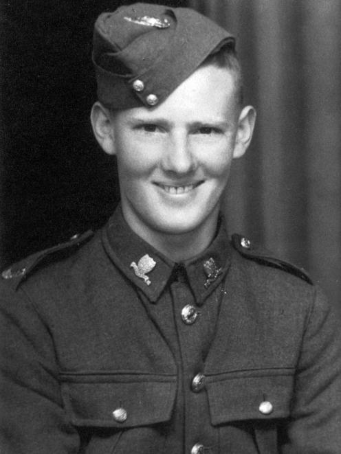 Alan Anderson in uniform in November 1941. Photo: Supplied
