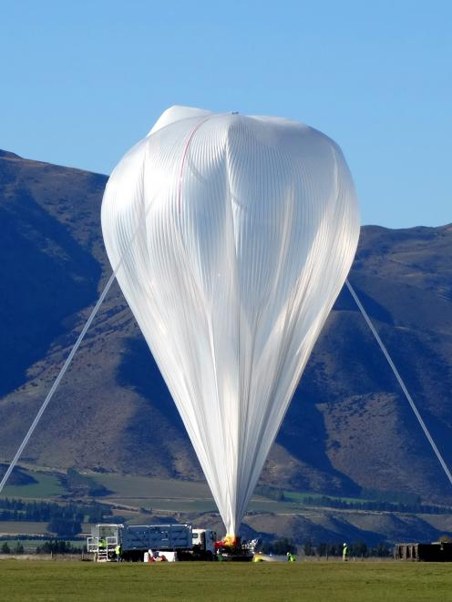 The super-pressure helium-filled balloon was launched from Wanaka Airport on Anzac Day morning...
