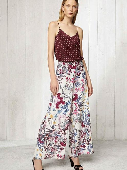 Witchery Fleur Silk Cami with Ren Wide Leg Pant