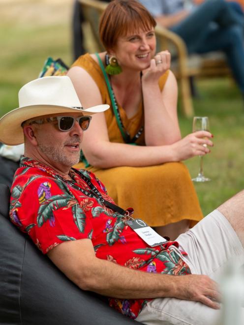 Kiwi master sommelier Cameron Douglas with winemaker Lucie Lawrence, of Aurum.