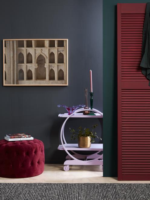 Eye-catching colours offer vibrancy to a room. Resene Nocturnal, Resene Palm Green, Resene...