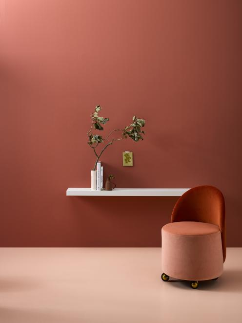 Grounded neutrals, including terracotta, are making a comeback. Resene Apple Blossom, Resene Wax...