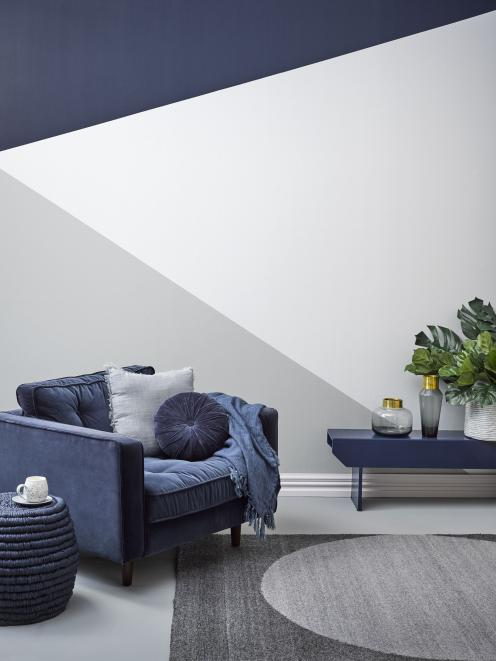 Darker hues take cosy to a new level. Resene Indian Ink, Resene Athens Grey, Resene Atmosphere,...
