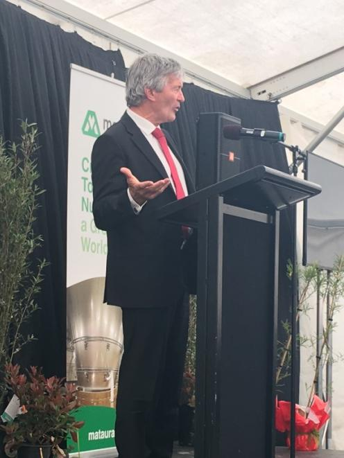 Minister of Agriculture Damien O'Connor speaking at the opening today. Photo: Kayla Hodge