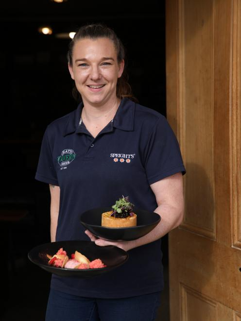 Cook Tarryn Lines serves up Chatto Creek  Tavern's Wagu beef and porter pie and strawberry panna...