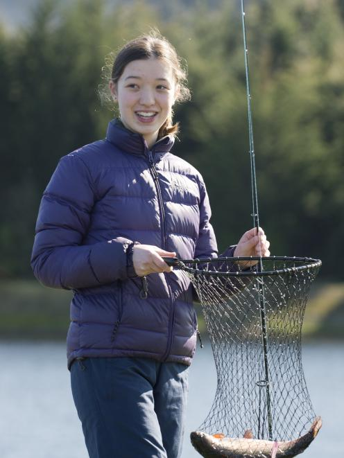 Lisa Lokman (14), of Dunedin, managed to hook her first fish at the Southern Reservoir, after...
