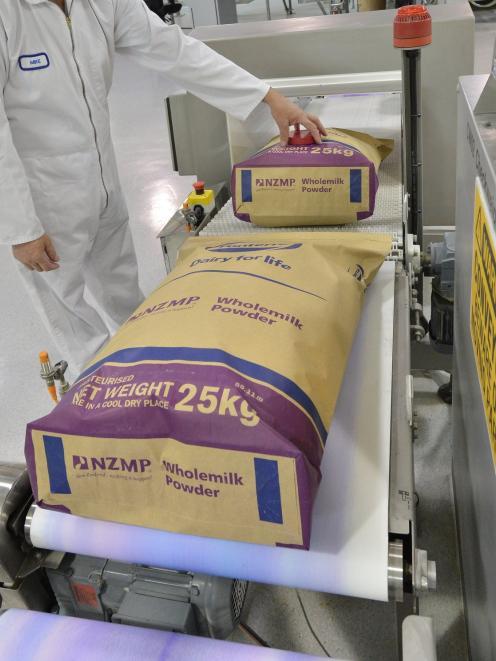 Whole milk powder slid 4.3%. Photo: ODT files