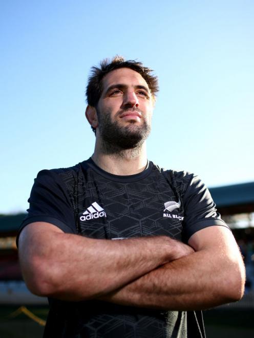 Sam Whitelock at North Sydney Oval yesterday. Photo: Getty Images