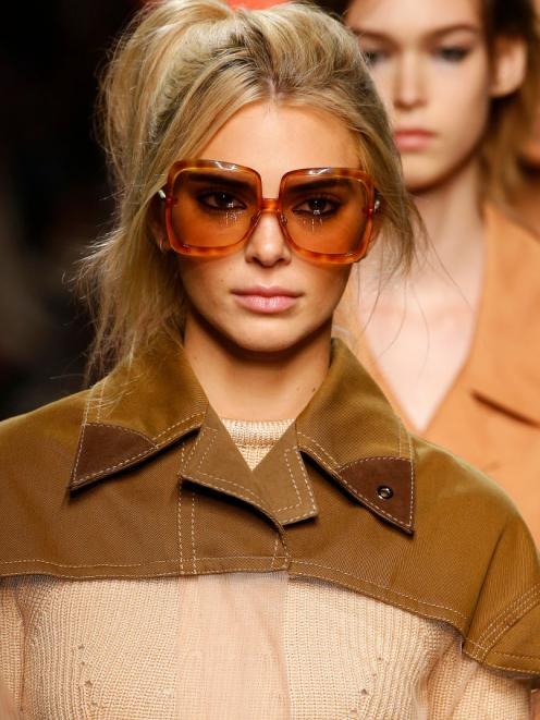 Kendall Jenner at at the Fendi show. Photo: Getty Images
