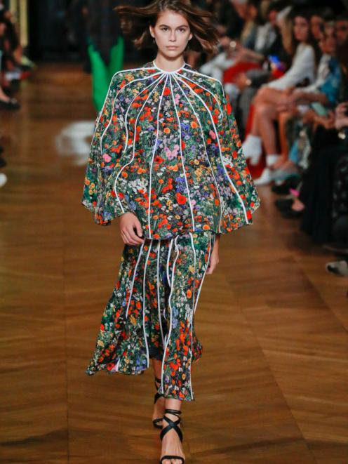 Kaia Gerber on the runway for Stella McCartney Spring/Summer 2020. Photo: Victor VIRGILE/Gamma...