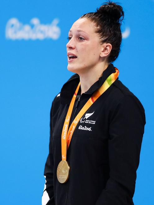 Sophie Pascoe won another gold in the pool, making her New Zealand's most successful Paralympian. Photo: Getty Images