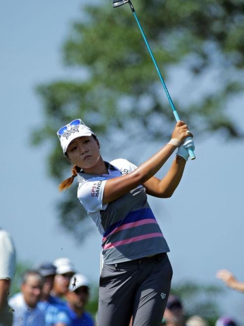 Lydia Ko on the 18th hole during the second round of the Kingsmill Championship. Photo: Getty Images