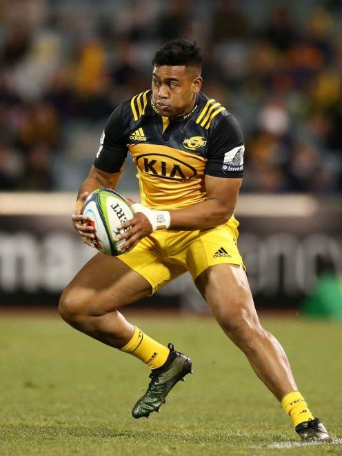 Julian Savea in action for the Hurricanes against the Brumbies in Canberra last month. Photo Getty