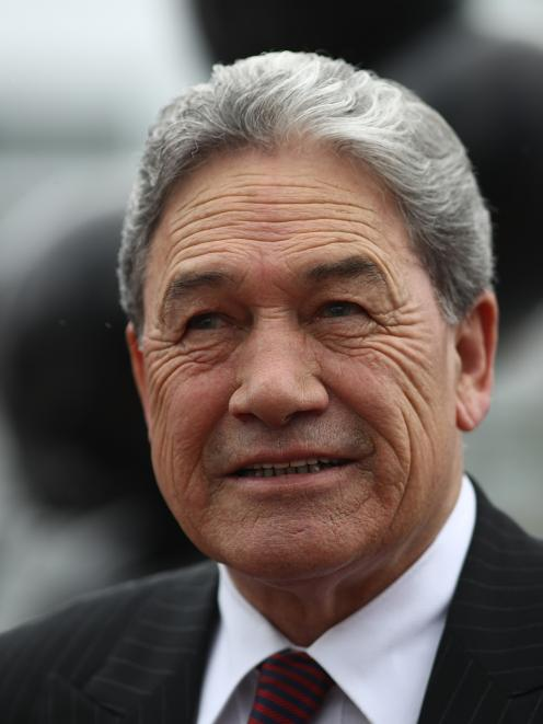 Winston Peters on the campaign trail in Auckland on Thursday. Photo: Getty Images