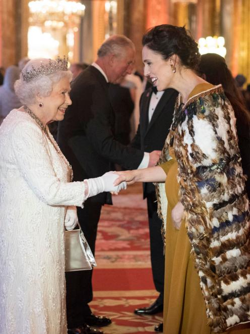 The Queen with Prime Minister Jacinda Ardern in London in 2018. Photo: Getty Images