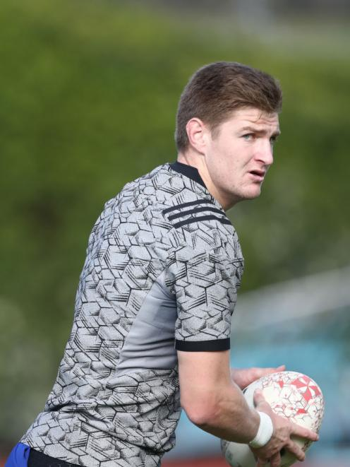 Jordie Barrett in action at an All Blacks training session at Mt Smart in Auckland this week....