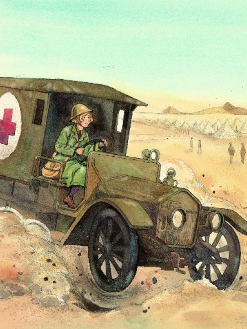 Illustration from Gladys Goes To War, by Glyn Harper.