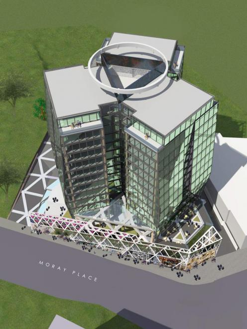 The proposed hotel in Moray Pl. Image: supplied