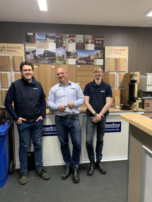 Trade service team, (from left) William Barrie, Chris Pragnell, and Tom Goodwin.