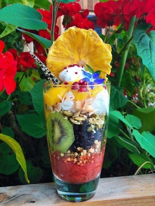 Breakfast parfait — Aro Ha food is a treat for the eyes as much as for the stomach. PHOTO: SUPPLIED