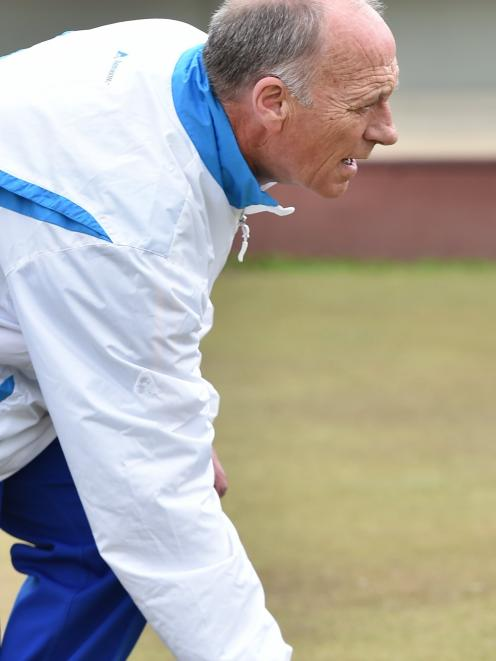 World Bowls champion Mike Kernaghan (North East Valley) competes in the final of the Bowls...