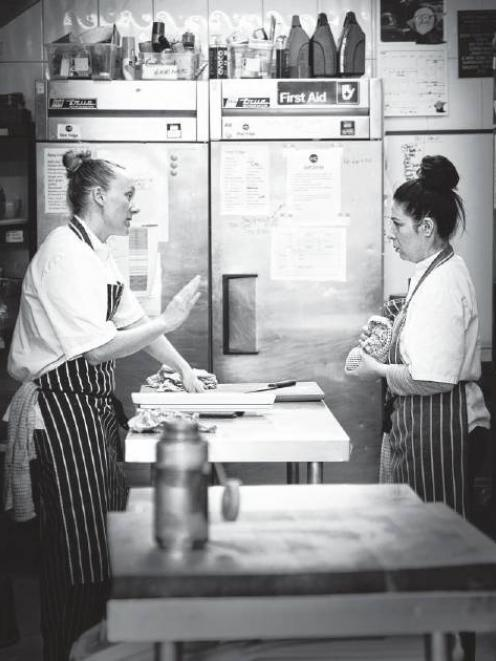 Kirsten Gilmour at work in the kitchen at Mountain Cafe in Aviemore Scotland.