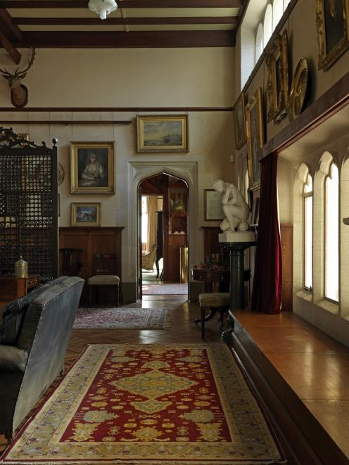 Kuriheka Estate's Gothic-style windows carved from Oamaru stone and carved doorways add to the...