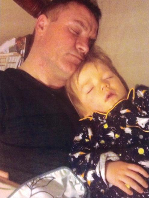 Father, Paul Jones with Toddler Lachlan Jones. Photo: Jones family/Supplied