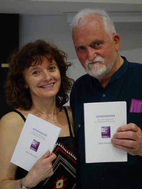 Mira Harrison and Roger Steele at the launch of Admissions.
