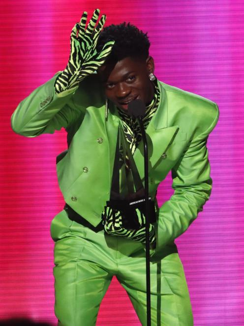 A gloved up Lil Nas X at the 2019 American Music Awards. Photo: Reuters