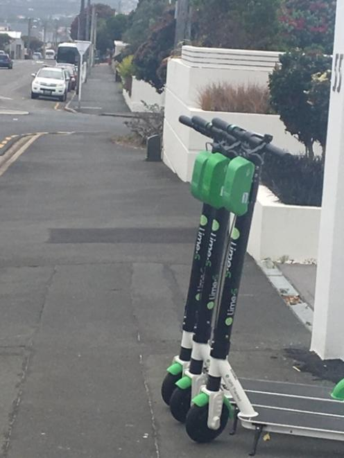 E-scooters in the suburb of St Clair. Photo: ODT files