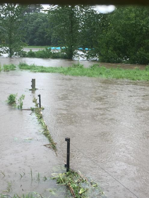 Mandy Stewart who lives on SH8 near the turn-off from SH1 said their driveway was flooded...
