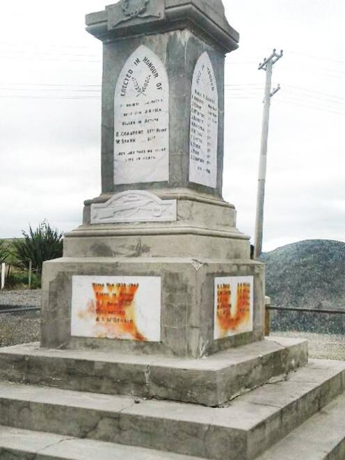The weathered monument at Waikoikoi. Photo: supplied
